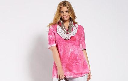 Pink-weißes Shirt im Boho-Hippie Style - Aufmacherbild
