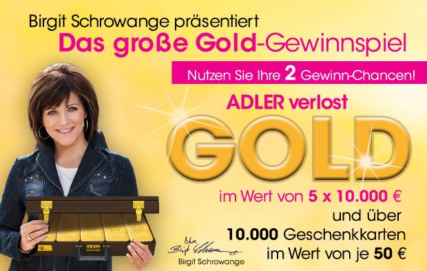 Das große Adler Gold-Gewinnspiel