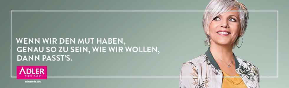 Birgit Schrowange mit grauen Haaren