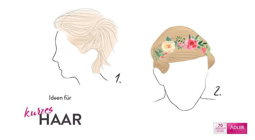 Wiesnstyling für kurzes Haar