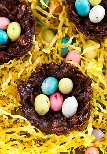 Schokonester backen für Ostern