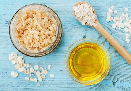 Olivenöl-Zucker-Peeling