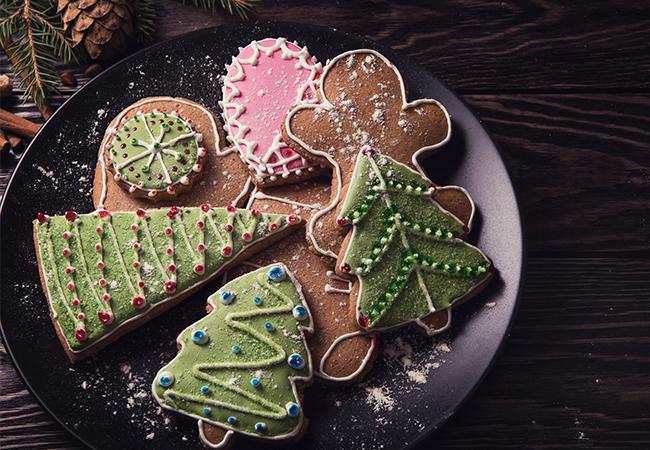 Cheesecake-Softcakes in Weihnachtsform