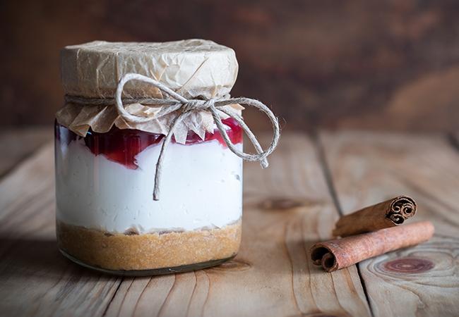 Lebkuchen-Cheesecake im Glas